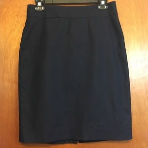 J. Crew navy pencil skirt sz 6